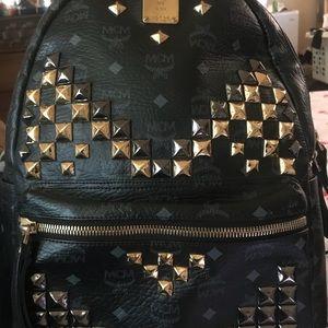 MCM Stark Studded Backpack-Mens Medium.